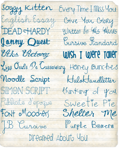 free fonts from dafont.com