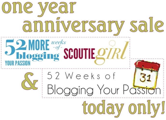 52 MORE weeks of blogging your passion