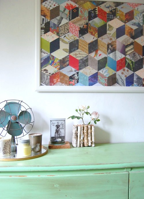 before and after: thrifted chest of drawers