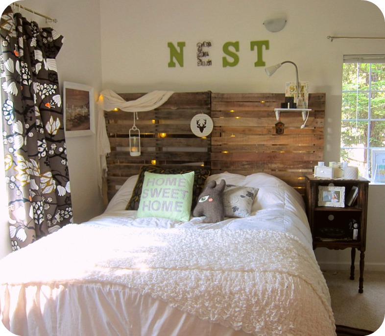 diy crate headboard