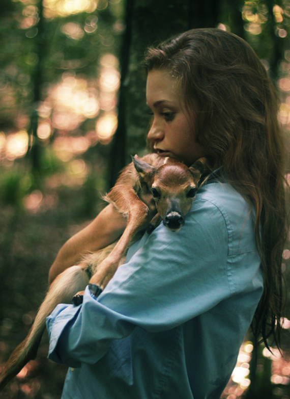 girl and fawn (9)