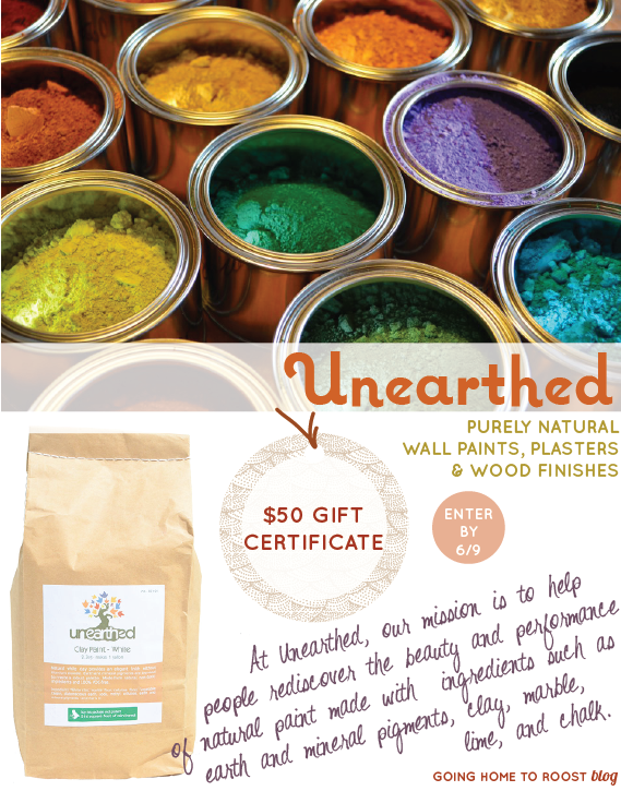 unearthed natural paints giveaway