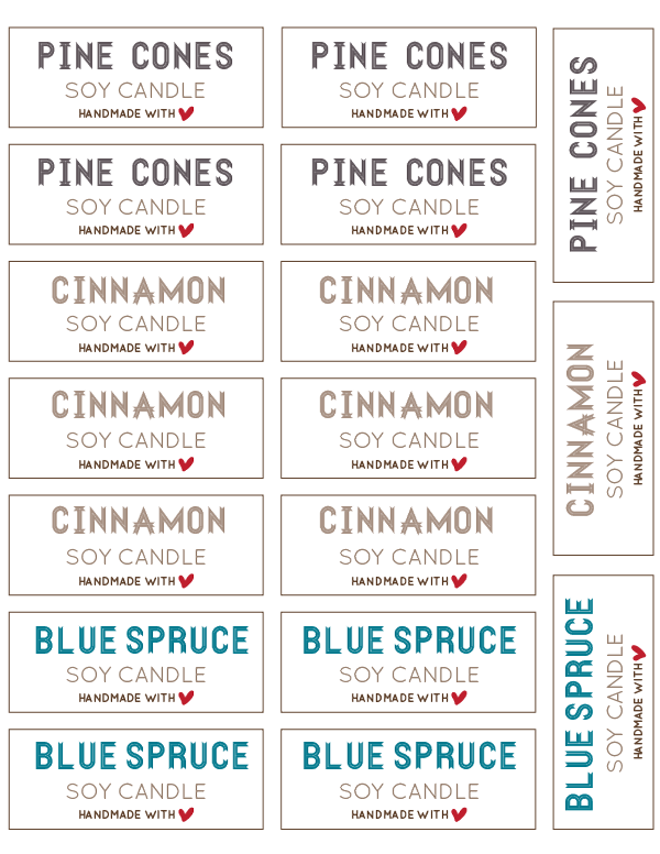 Punchy image for free printable candle labels
