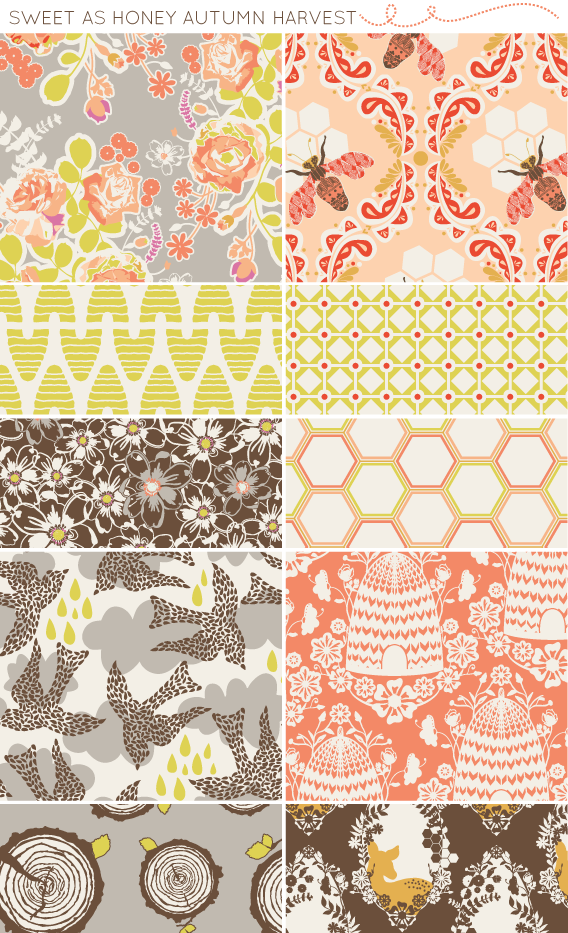 sweet as honey fabric collection by bonnie christine (2)