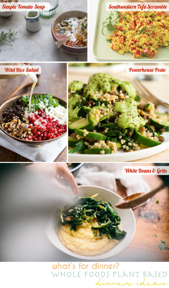 plant based dinner ideas