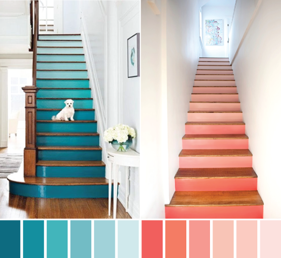 watercolor stairs