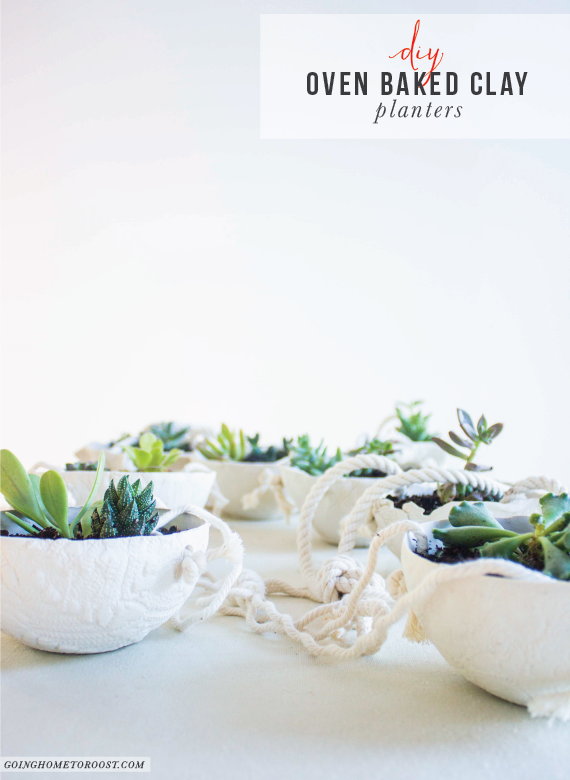 diy oven baked clay hanging planters - perfect for succulents! (3)