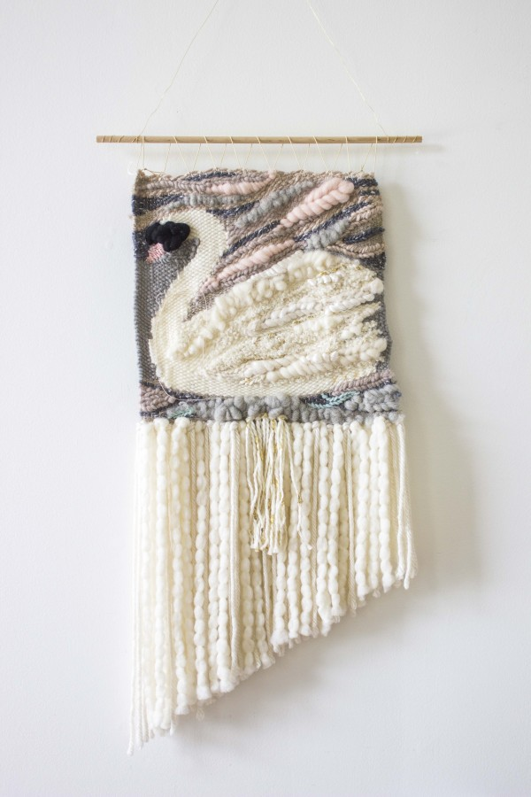 Swan Woven Wall Hanging by Bonnie Christine (4)