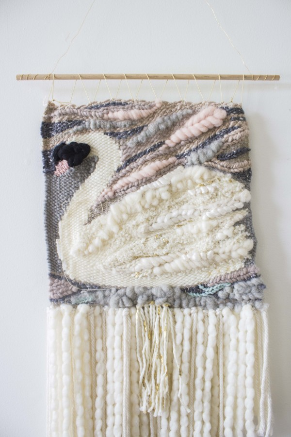 Swan Woven Wall Hanging by Bonnie Christine (3)