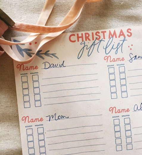 Printable Gift List by Bonnie Christine (6)